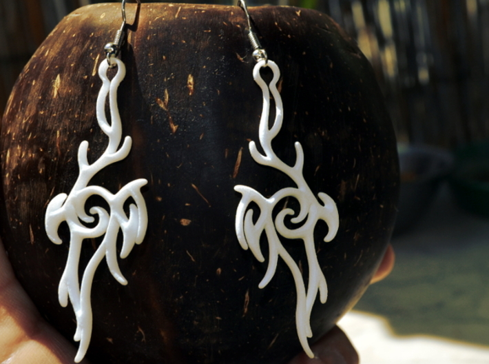 Abstract Hanger Earrings #2 3d printed