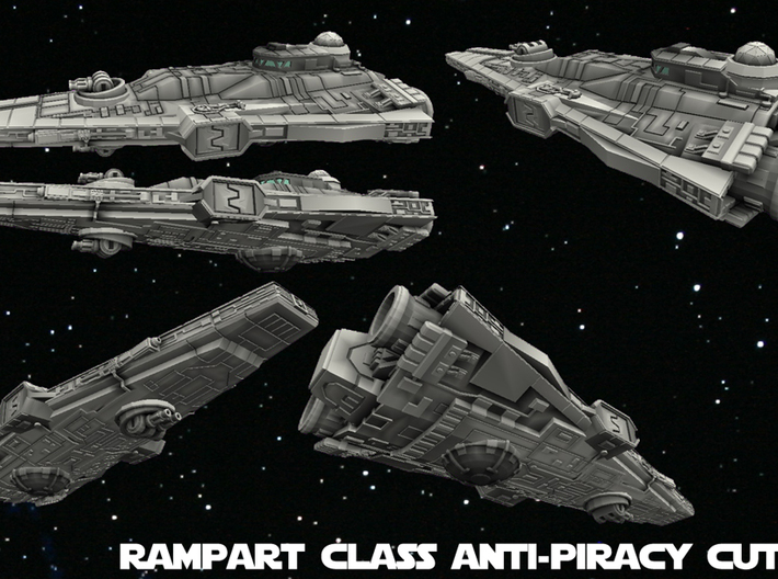 Empire Rampart Class Cutter 1/270 3d printed