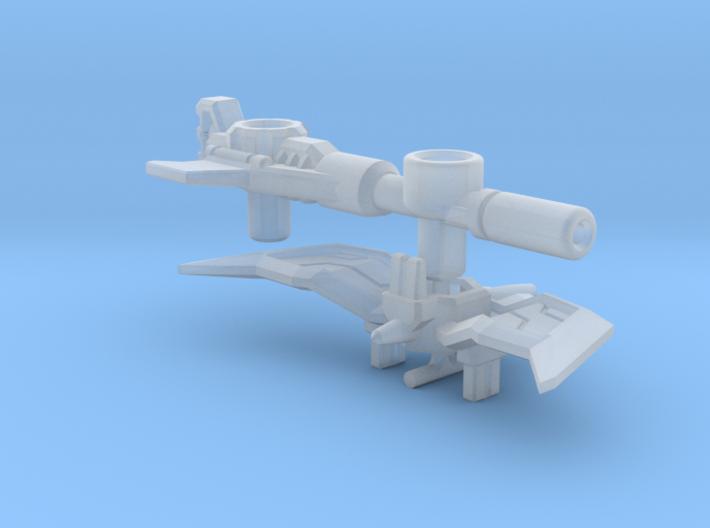 """CW Blackjack Upgrade """"Gun-Axe"""" 3d printed"""