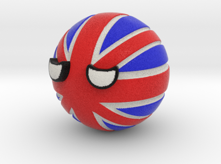 Countryballs UK 3d printed Countryballs UK -  Full Color Sandstone