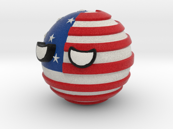 Countryballs USA 3d printed Countryballs USA - Full Color Sandstone