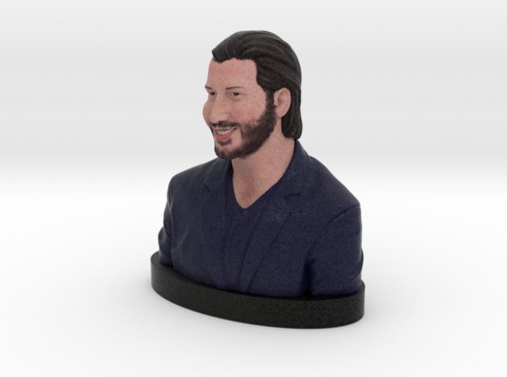 Keanu Reeves Happy Bust 3d printed Keanu Reeves - Full Color Sandstone