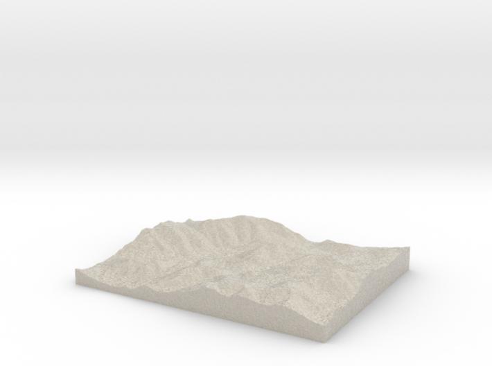 Model of Mount Colden 3d printed