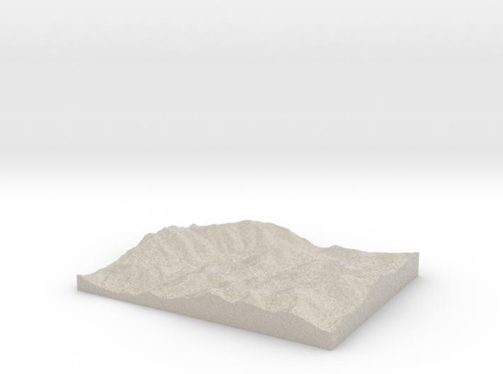 Model of Mount Colden 3d printed