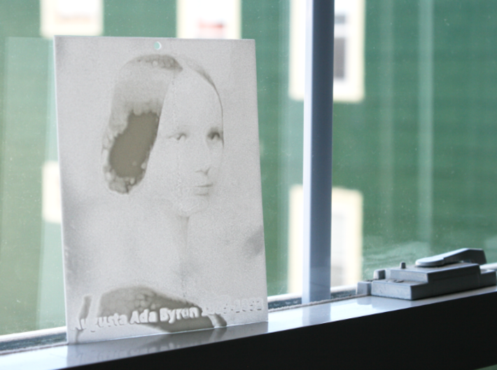 Ada Lovelace Shadowgram 3d printed