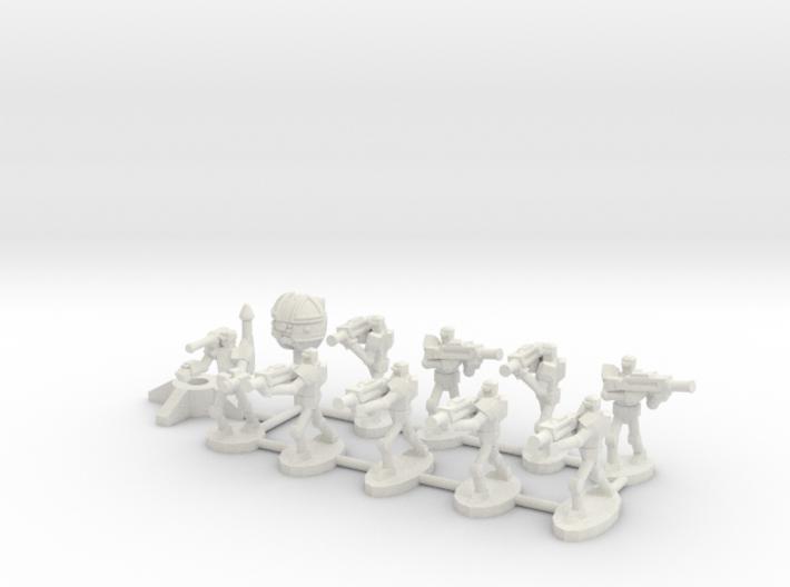 MG144-HE001 Herosine Droid Squad 3d printed