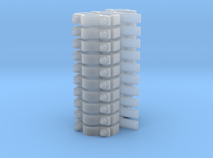 "5/32"" (4mm) Pipe Support Assortment (30 Pieces) 3d printed"