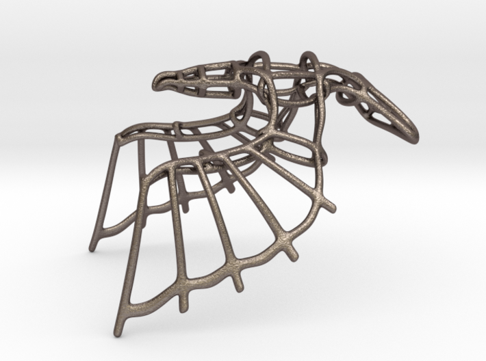 Eagle Wireframe Keychain  3d printed