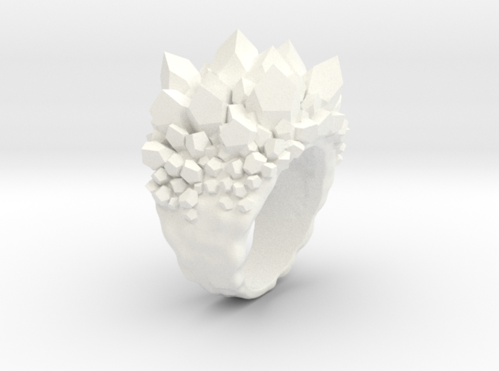 Double Crystal Ring Size 10 3d printed