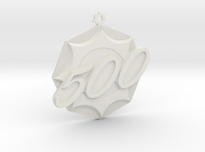 """Immortan Joe """"500"""" Badge / Medal 3d printed"""
