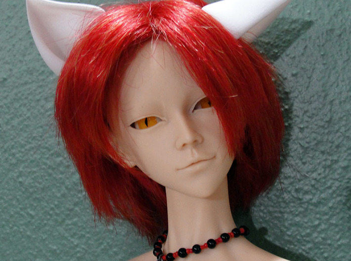 Fox Ears YOSD doll size 3d printed SD sized fox ears on SD sized doll, doll not included