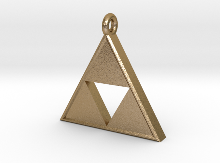 Triforce Pendant 3d printed