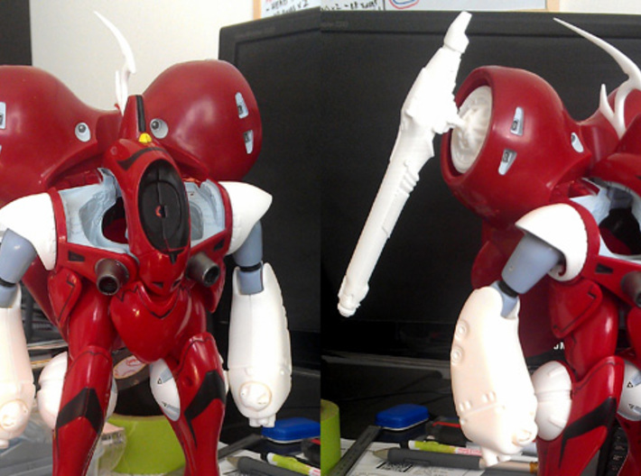 Rau - Shoulder Missiles; Cannon Hub 3d printed NOTE: Impacto Cannon NOT included in this set!