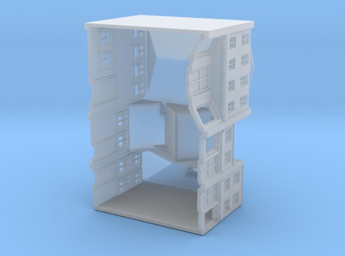 Three High Street Shops 3d printed