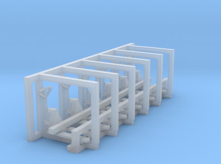 N Scale Pallet Jack (6pc) 3d printed