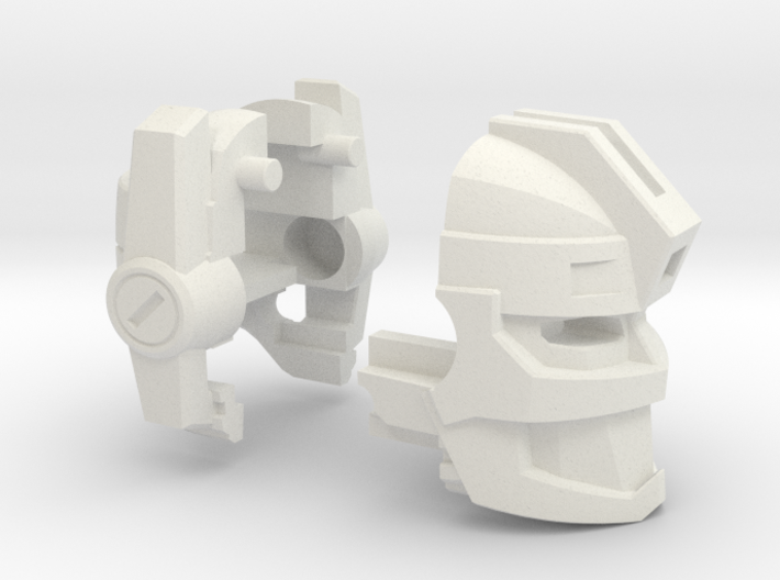 Fearsome Gust Head for Leader Jetfire (1 of 2) 3d printed