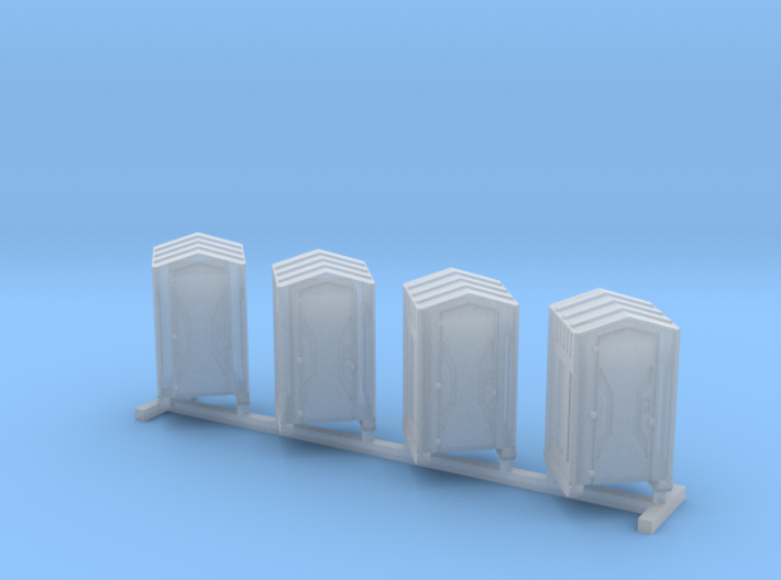N Scale Portable Toilets 4pc 3d printed