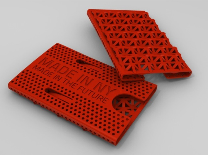Business card case -Made in NY, Made in the Future 3d printed Red