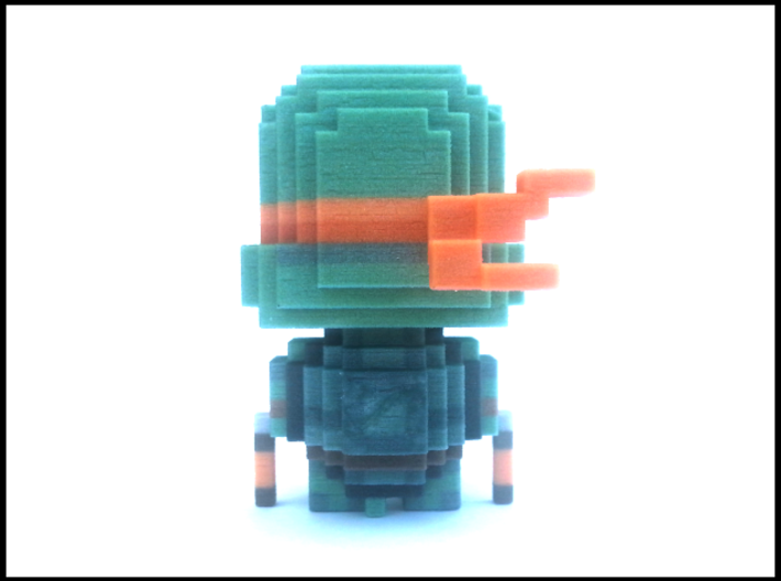 """Mikey"" Voxel Figurine 3d printed"