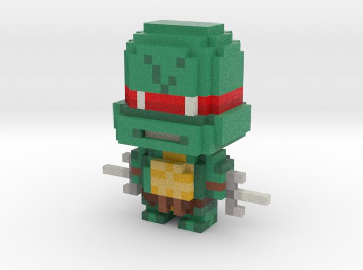 """""""Raph"""" Voxel Figurine 3d printed"""