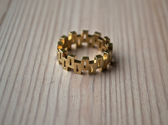 """Boxiness"" Ring - Size Large 3d printed"