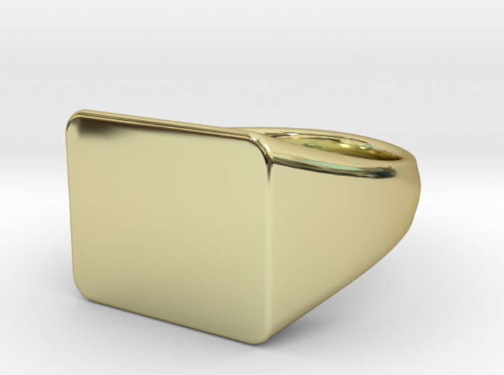 Customizable signet Ring Rectangular 3d printed