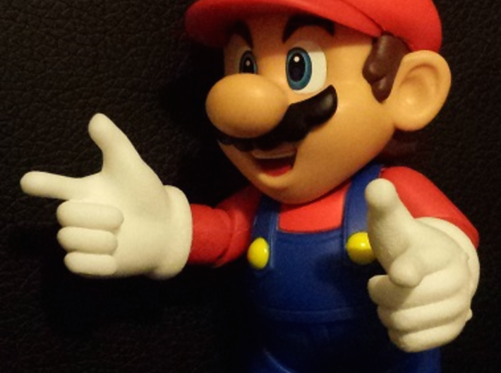Finger Gun Hands for S.H. Figuarts Mario / Luigi 3d printed