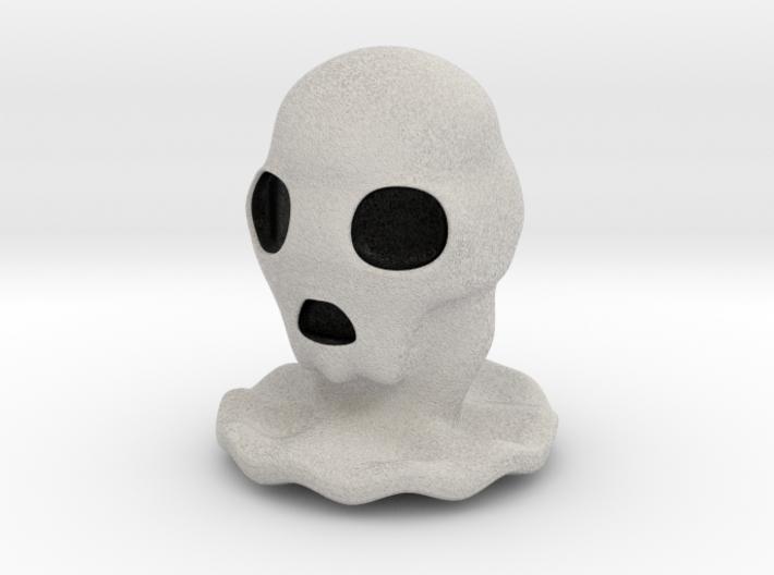 Halloween Character Hollowed Figurine: SkullGhosty 3d printed