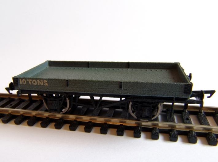 LNWR 18ft, 1 Plank Open Wagon (Diagram 103) 3d printed Painted, and Weathered, Prototype Print (for sale model has more detail, see rendering)