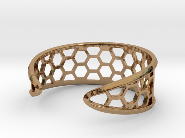 Cuff Bracelet, Honeycomb Mesh 3d printed