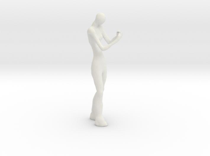 Phone + Girl 3d printed