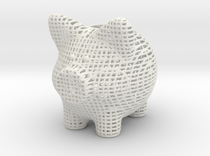 Wire Frame Piggy Bank 6 Inch Tall 3d printed
