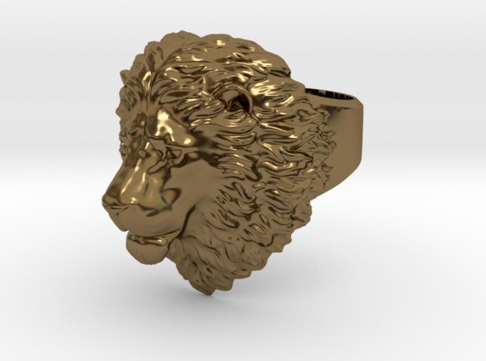 Calm Lion Ring 3d printed
