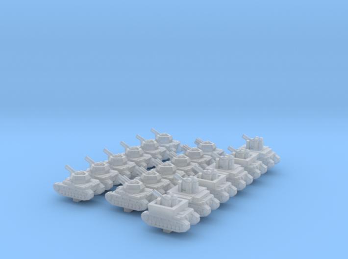 1/600 Panzer Division AA 3d printed