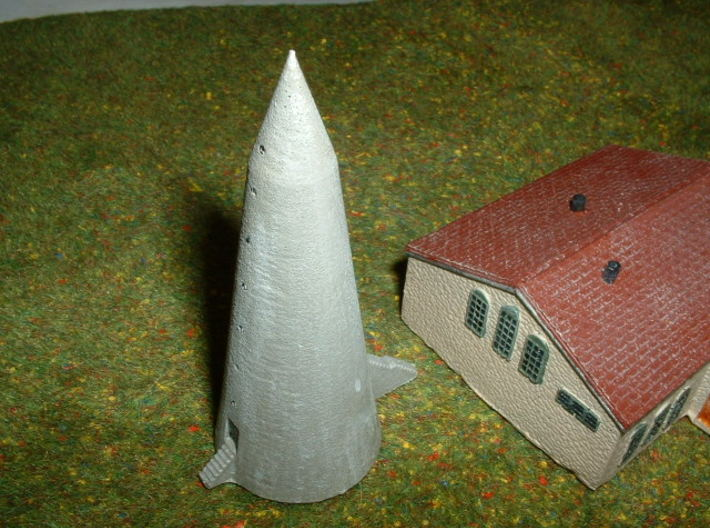 WINKELTURM, German air raid shelter 1/285 6mm 3d printed