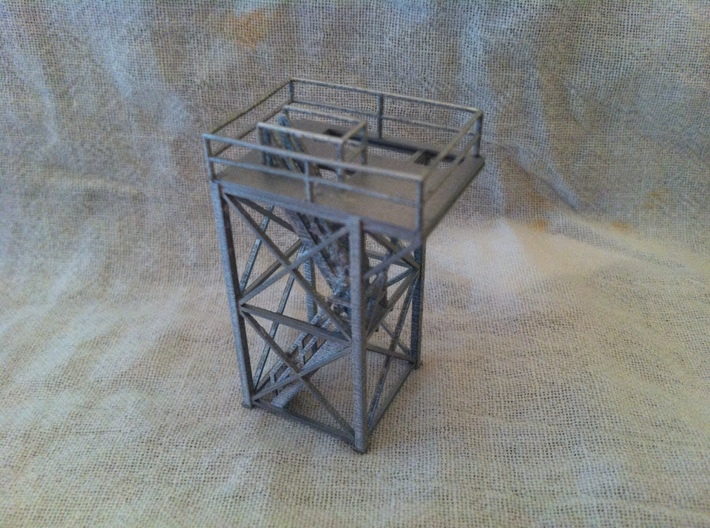 'HO Scale' - 10'x10'x20' Tower Top With Stairway 3d printed