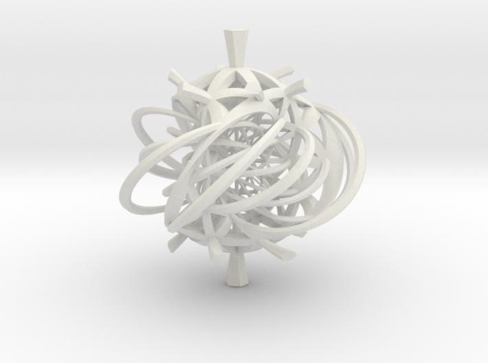 Seifert surface for (3,3) torus link with fibers 3d printed