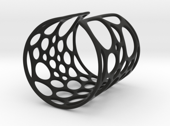 Voronoi bracelet (MEDIUM) 3d printed