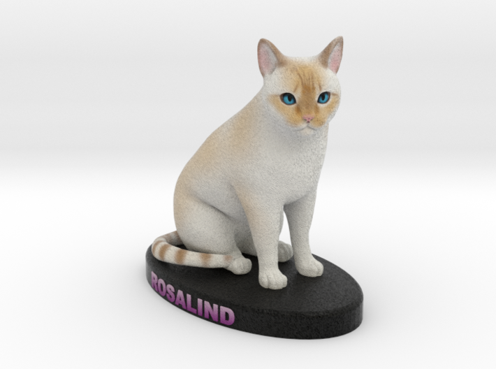 Custom Cat Figurine - Rosalind 3d printed