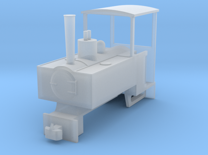 OO9 Decauville Plantation 0-4-0T for Tsuwaga Chass 3d printed