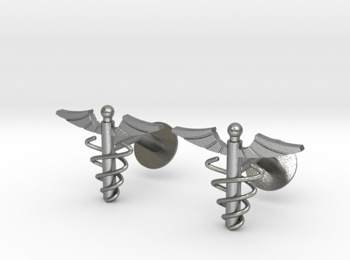 Doctor's Caduceus Cufflinks 3d printed