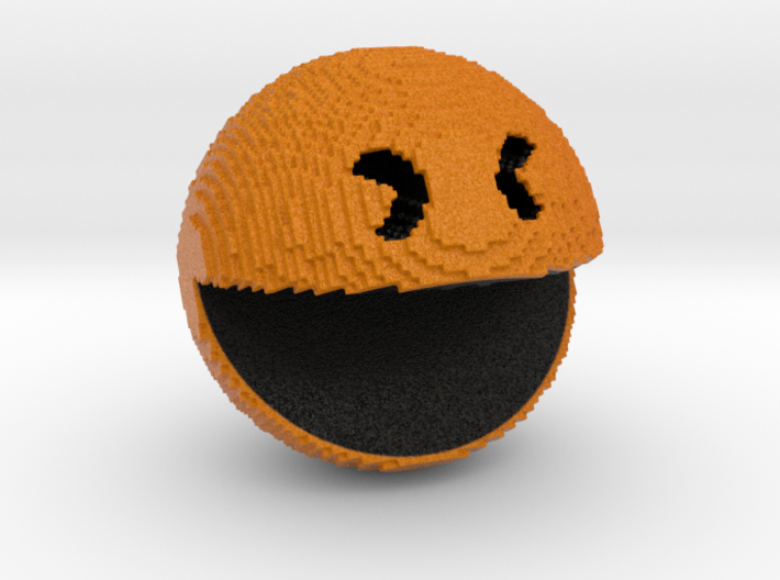 Pacman pixelated from 'PIXELS 2015' movie 3d printed