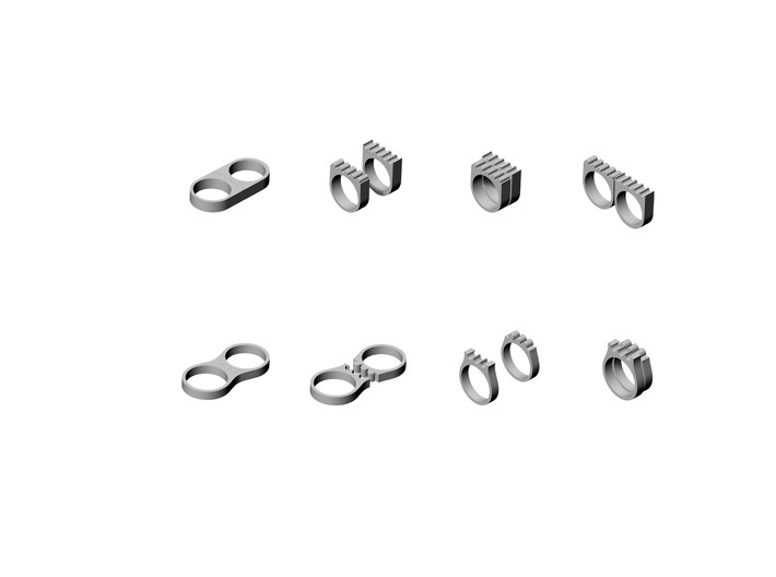 Bridges - 2WayWear Ring 3d printed Design Development