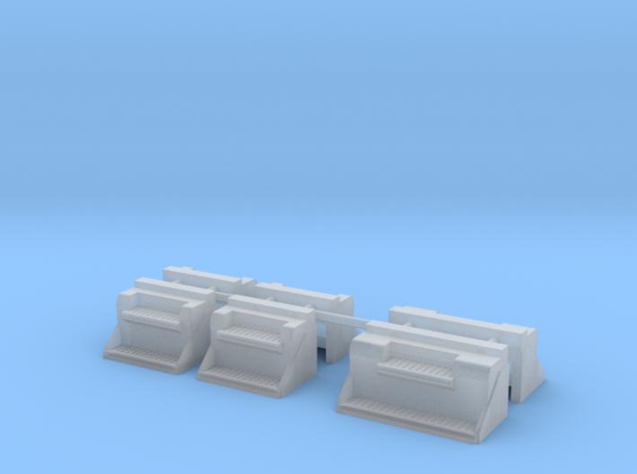 1/87th Kenworth type Vintage step battery boxes 3d printed