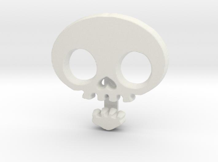 Skull Ribbon Charm 3d printed