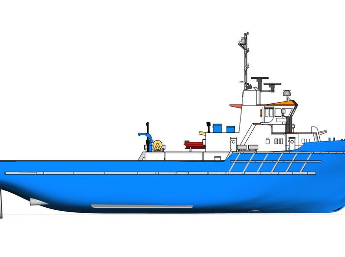 MV Anticosti, Superstructure (1:200, RC Ship) 3d printed 3D model of overall model of MV Anticosti