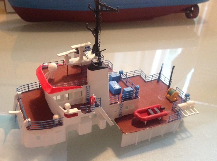 MV Anticosti, Superstructure (1:200, RC Ship) 3d printed photo of printed superstructure (painted, includes other parts)