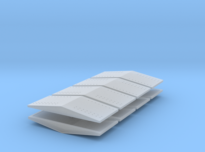 #5a Ballast Car End Roofs 3d printed