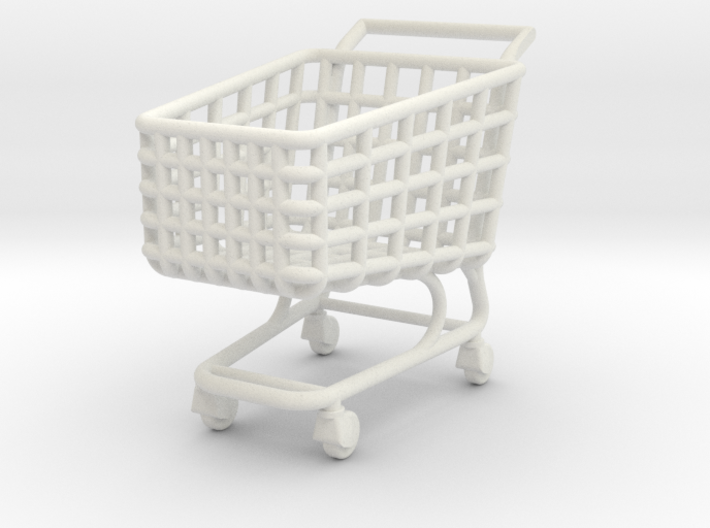Miniature Shopping Trolley (Heroic scale) 3d printed