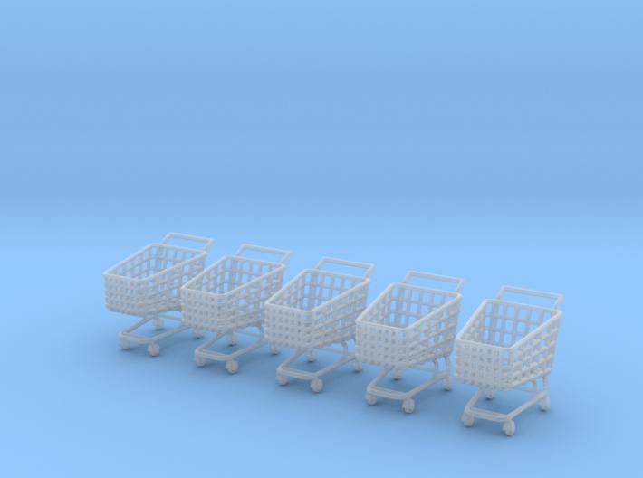5 X Miniature Shopping Trolleys 3d printed